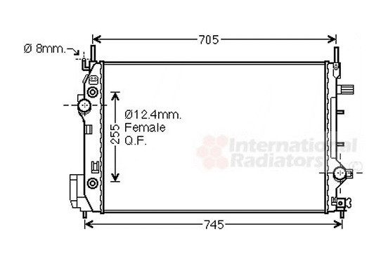 Radiateur 47002080 International Radiators