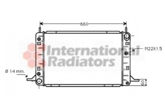 RADIATEUR 9/89+ 2000 +AUTO        A 18002113 International Radiators