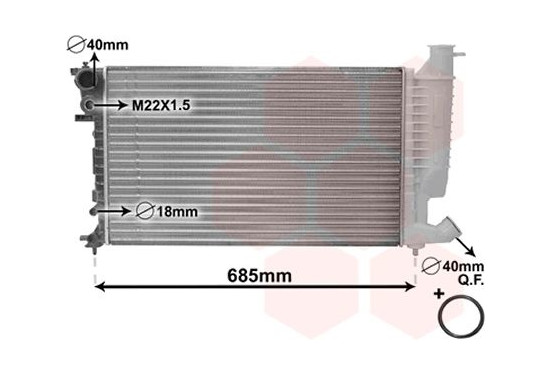 RADIATEUR 9/98+ 2,0 +AUTO +/zonder AIRCO 09002156 International Radiators Plus