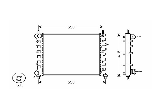 RADIATEUR BENZINE 1,8 +/zonder AIRCO 73002077 International Radiators