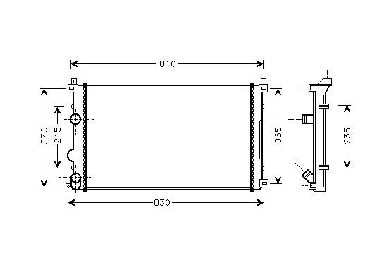 RADIATEUR DIESEL 1.9 DTi / 2.2 DTi  VANAF 2003 43002322 International Radiators