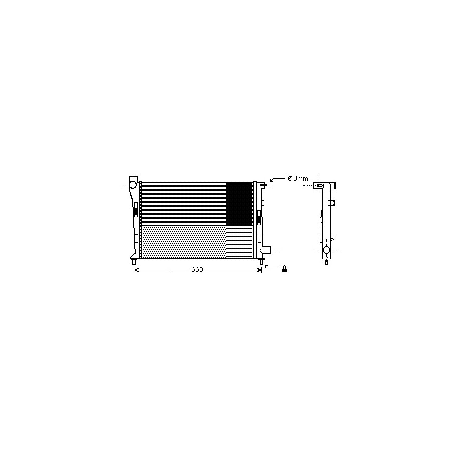 RADIATEUR DIESEL A170 CDi MT 30002281 International Radiators