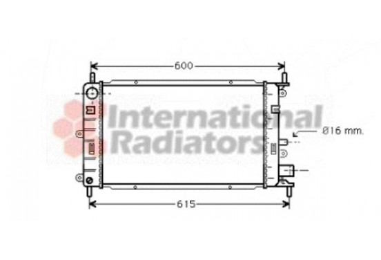RADIATEUR ESCORT5/ORION 16MT 90-95 18002150 International Radiators
