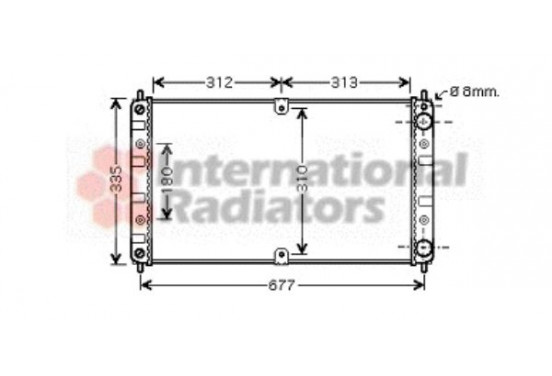 RADIATEUR LADA 2123 MT 26002017 International Radiators