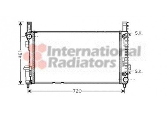 RADIATEUR MB A/B CLASS AT 04- 30002365 International Radiators