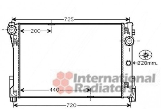 RADIATEUR MB W204 (C) ALL MT 07- 30002474 International Radiators