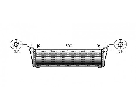 RADIATEUR PORSCHE911 36i/38i 04- 74002053 International Radiators