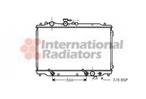 RADIATEUR r 626 (2.2 i.) Aut. 87-92 27002096 International Radiators