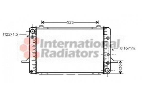 RADIATEUR SIERRA 2 AT 84-87 18002051 International Radiators