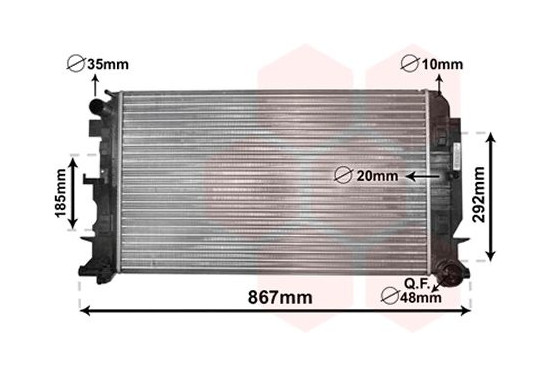 RADIATEUR SPRINTER 22CDi MT vanaf '06 30002444 International Radiators