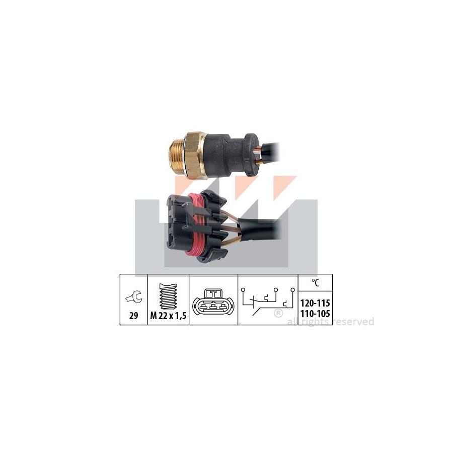 Temperatuurschakelaar Radiateurventilator 550703 KW
