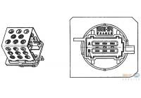 Weerstand, interieurventilatie 9ML 351 332-241 Behr Hella