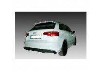 Achterbumperskirt (Diffuser) Audi A3 8V Sportback 2012- (Uitlaatuitsparing links) (ABS)