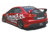 Chargespeed Achterbumperskirt Mitsubishi Lancer Evo X CZ4A HalfType (FRP)