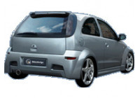 IBherdesign Spatbordverbreders 'achter' Opel Corsa C 9/2000- 'Hypnosis Wide'