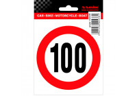 AutoTattoo Sticker Speed Limit 100km - 9,5x10cm