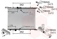 Kylare, motorkylning *** IR PLUS *** 40002300 International Radiators Plus
