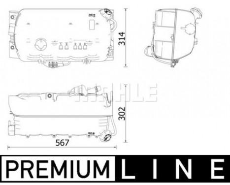 Expansionskärl, kylvätska BEHR *** PREMIUM LINE ***, bild 2