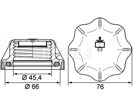 Låslock, kylvätskebehållare BEHR *** PREMIUM LINE ***, bild 2