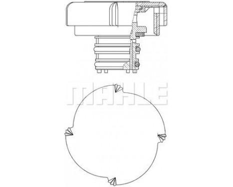 Låslock, kylvätskebehållare PREMIUM LINE, bild 2
