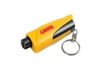 Emergency hammer rescue tool keychain