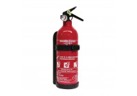Fire extinguisher ABC 1kg with pressure gauge