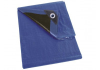 DECK SHEET - BLUE / BLACK - VERY STRONG - 5 x 8 m