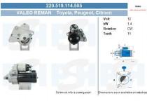 Starter Citroen / Peugeot 1.4 kw