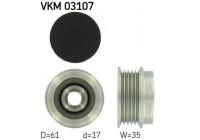 Dynamovrijloop VKM 03107 SKF