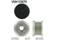 Dynamovrijloop VKM 03870 SKF