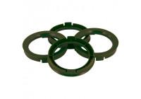 Set TPI Centreerringen - 73.0->65.1mm - Olive Groen