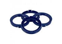 Set TPI Centreerringen - 60.1->56.6mm - Reflex Blauw