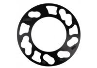 TPI Universele spoorverbrederset/Spacers 5mm - 4/5-gaats - Steekmaat 98->114,3mm - zwart (10mm/as)