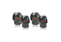 Foliatec AirCaps ventieldoppenset Skull zwart rode ogen
