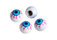 Simoni Racing Set ventielkapjes Shocking Eyes - Wit/Blauw/Rood - 4-stuks