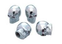 Simoni Racing Set ventielkapjes Skeletor - Chroom