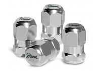 Simoni Racing Set ventielkapjes Chrome Hexagonal - Chroom