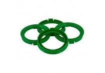 Set TPI Centreerringen - 66.5->57.1mm - Groen