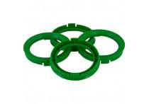 Set TPI Centreerringen - 67.1->57.1mm - Groen