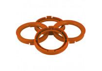 Set TPI Centreerringen - 72.5->67.1mm - Oranje