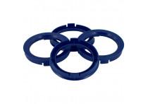 Set TPI Centreerringen - 73.0->56.6mm - Reflex Blauw