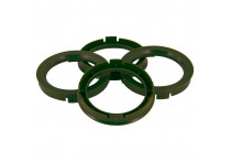 Set TPI Centreerringen - 74.1->65.1mm - Olive Groen