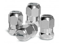 Simoni Racing Set ventielkapjes Chrome Hexagonal - Chroom
