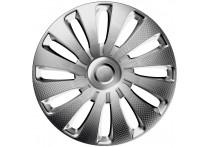 4-Delige J-Tec Wieldoppenset Sepang 17-inch zilver/carbon-look