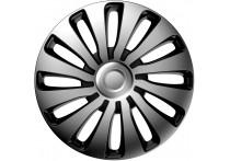 4-Delige J-Tec Wieldoppenset Sepang 17-inch zilver/zwart