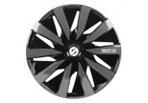 4-Delige Sparco Wieldoppenset Lazio 15-inch zwart/grijs