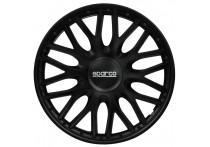 4-Delige Sparco Wieldoppenset Roma 15-inch zwart