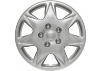 4-Delige Wieldoppenset California 17-inch zilver