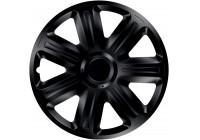4-Delige Wieldoppenset Comfort  Black 16 Inch
