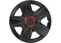 4-Delige Wieldoppenset Esprit Red Ring Black 14 inch